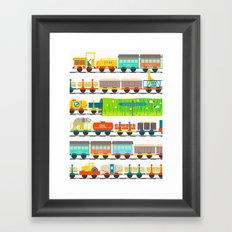 Long Train Framed Art Print