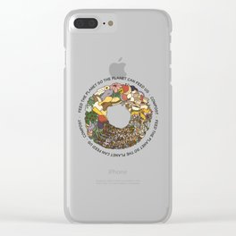 Feed the Planet Composting Wheel Clear iPhone Case