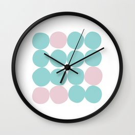 Happy dance of the dots Wall Clock