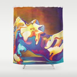 The United Colours of Orgasm Thermal Nude Shower Curtain