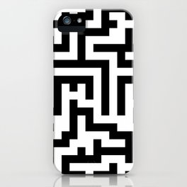 White and Black Labyrinth iPhone Case