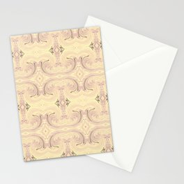 Yellow and Purple Pattern Stationery Cards
