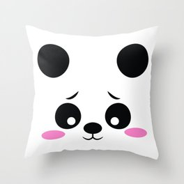 Panda Funny Pregnancy Announcement Throw Pillow