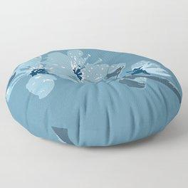 Blue Cherry Blossoms Floor Pillow
