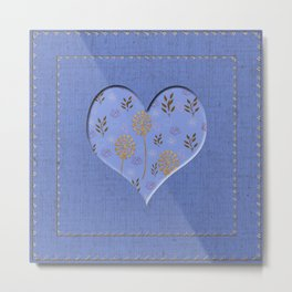 Heartful with flowers Metal Print
