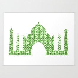 Taj Mahal Art Art Print