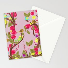 Vintage Birds and flowers Stationery Cards
