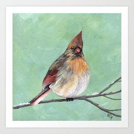 Cardinal in Winter Art Print