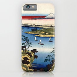 Wild Goose Hill and the Tone River by Hiroshige iPhone Case