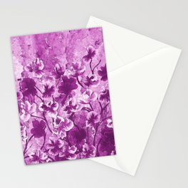 Purple Wild Flowers Stationery Cards