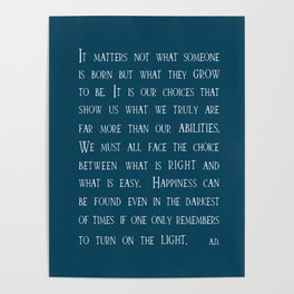 Dumbledore wise quotes Poster