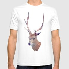 Odocoileus virginianus MEDIUM White Mens Fitted Tee