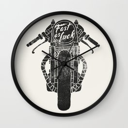 fast as fuck III Wall Clock