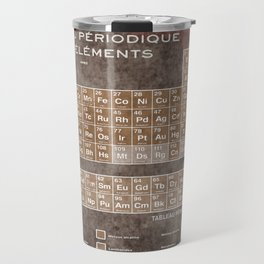 Tableau Periodiques Periodic Table Of The Elements Vintage Chart Science Travel Mug