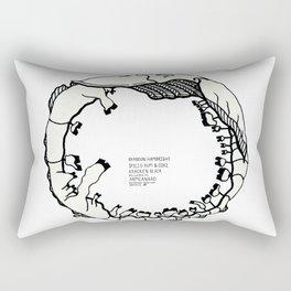 Armcanard Beverage Beastie with Origin Story Rectangular Pillow