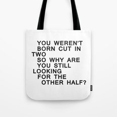 In Half / Original / Mono Tote Bag