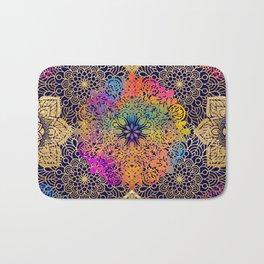 Bohemian 1960's Mandala Pattern of Joy Bath Mat