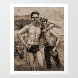 Coney Island Beach, circa 1935 Art Print