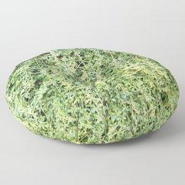 Green Leaf Wall wide Floor Pillow