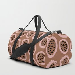 Raw brush minimal fruit garden abstract circle pattern Duffle Bag