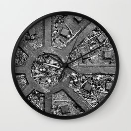 Sewer Lid Abstract Wall Clock