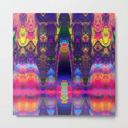 Abstract with wild pattern and 1001 night colors Metal Print