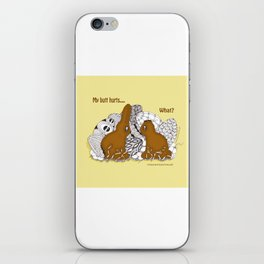 Chocolate Easter Bunny Problems Children Illustrations iPhone Skin