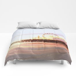 Santa Monica Pier Sunrise Comforters