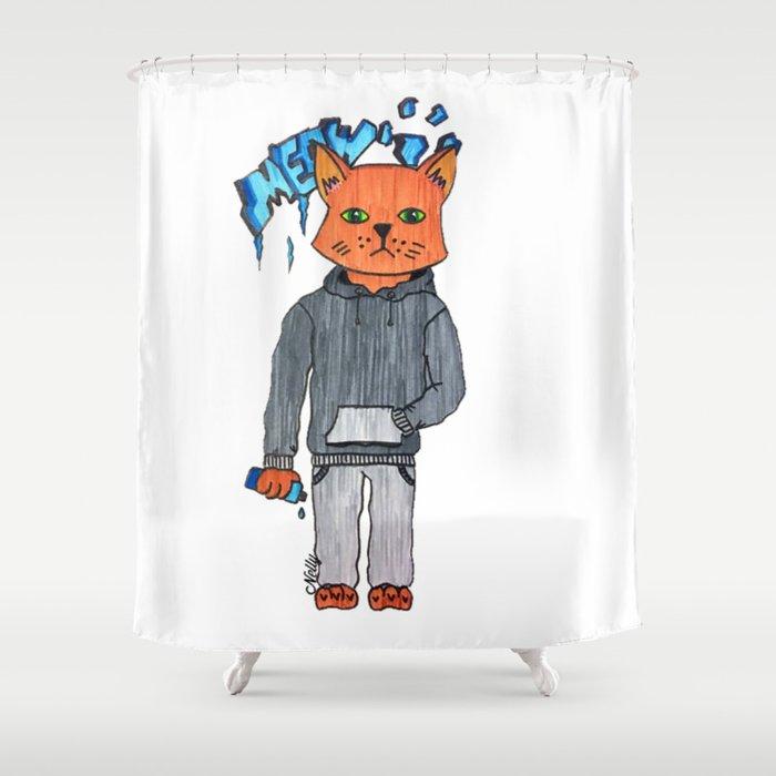 The urban cat Shower Curtain