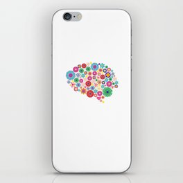 Flower brain iPhone Skin