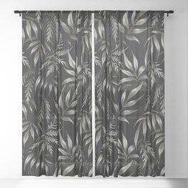 Brooklyn Forest - Black Sheer Curtain