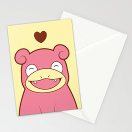 Slowpoke Love Stationery Cards