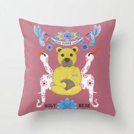 holy bear Throw Pillow