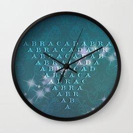 Abracadabra Reversed Pyramid in Turquoise Wall Clock