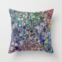 Diamonds, Jewels, (Gems & The Hologram) Throw Pillow