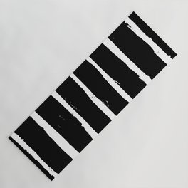 Minimal [3]: a simple, black and white pattern by Alyssa Hamilton Art Yoga Mat