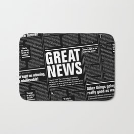 The Good Times Vol. 1, No. 1 REVERSED / Newspaper with only good news Bath Mat