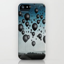 In Limbo - black balloons iPhone Case