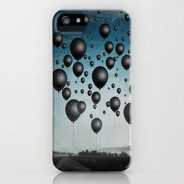In Limbo - black balloons iPhone Case