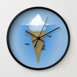Hidden part of icebergs Wall Clock
