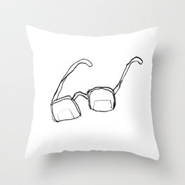 scribbly glasses Throw Pillow