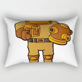diving dress cartoon Rectangular Pillow