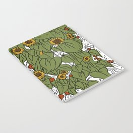 Great Prairie with Sunflowers Notebook
