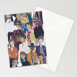 Paris Men Stationery Cards