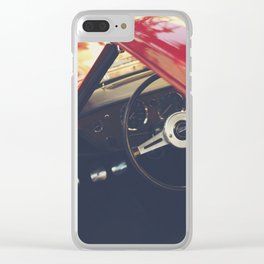 Triumph spitfire, english sports car fine art photography, classy man cave print Clear iPhone Case