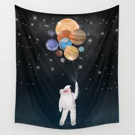 balloon universe Wall Tapestry