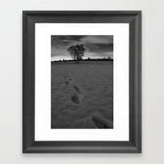 Vanishing Footsteps  Framed Art Print