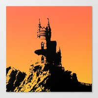 castle in the sky Canvas Prints featuring Castle by Julia Badeeva