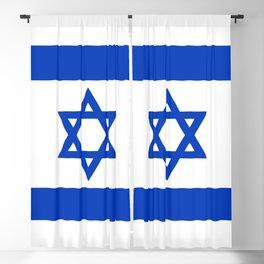 Flag of the State of Israel Blackout Curtain