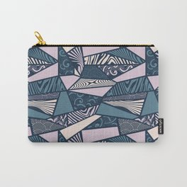 Shapes and swirls pattern Midnight Blue Combo Carry-All Pouch